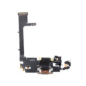 Купить Шлейф с разъемом зарядки Lightning (Gold) для iPhone 11 Pro