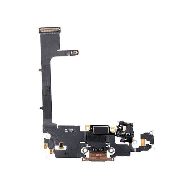 Шлейф с разъемом зарядки Lightning (Gold) для iPhone 11 Pro