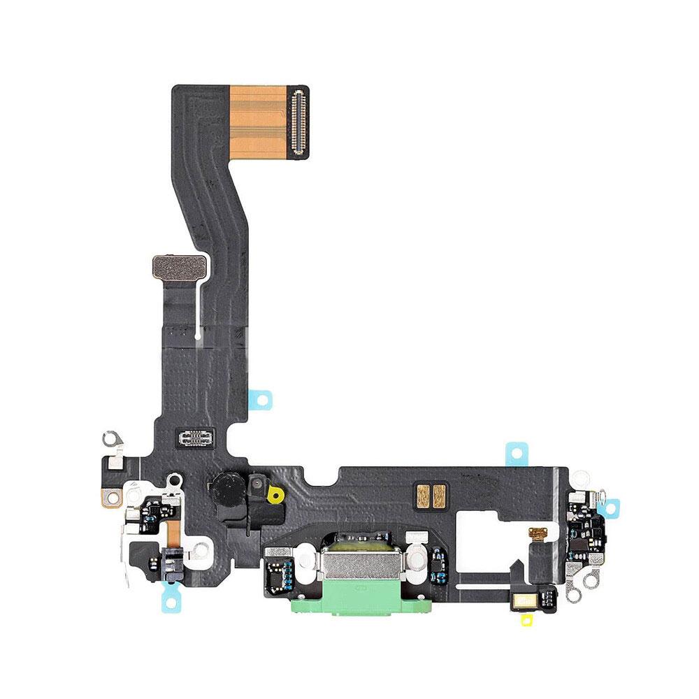 Купить Шлейф с разъемом зарядки Lightning (Green) для iPhone 12