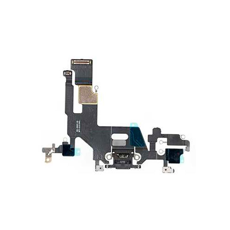 Купить Шлейф с разъемом зарядки Lightning (Black) для iPhone 11