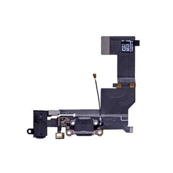 Шлейф с разъемом зарядки Lightning + разъем аудио (Black) для iPhone SE