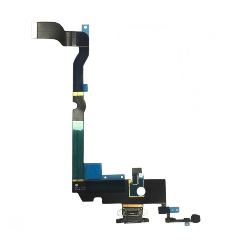 Купить Шлейф с разъемом зарядки Lightning + разъем аудио (Black) для iPhone XS Max