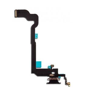 Купить Шлейф с разъемом зарядки Lightning + разъем аудио (Silver) для iPhone XS Max