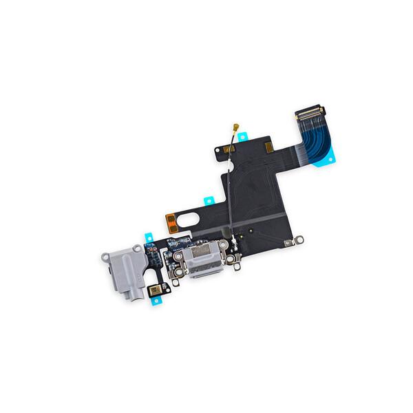 Шлейф с разъемом зарядки Lightning + разъем аудио (Gray) для iPhone 6
