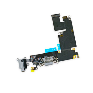 Купить Шлейф с разъемом зарядки Lightning + разъем аудио (Gray) для iPhone 6 Plus