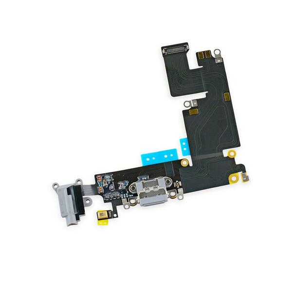 Шлейф с разъемом зарядки Lightning + разъем аудио (Gray) для iPhone 6 Plus