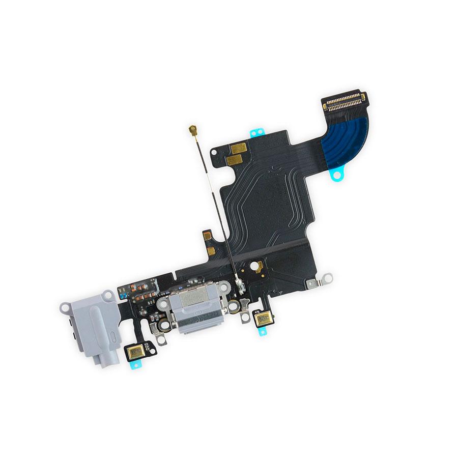 Купить Шлейф с разъемом зарядки Lightning + разъем аудио (Gray) для iPhone 6s