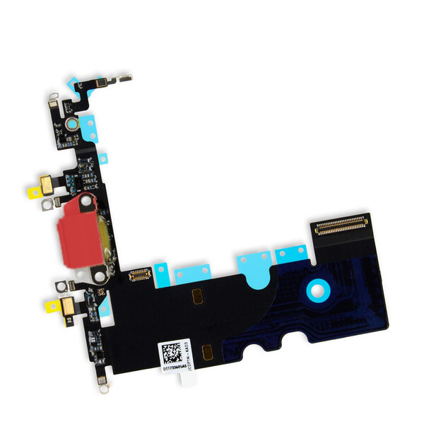 Шлейф с разъемом зарядки Lightning + разъем аудио (Red) для iPhone SE 2 (2020)