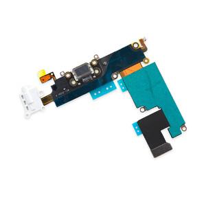 Купить Шлейф с разъемом зарядки Lightning + разъем аудио (White) для iPhone 6 Plus