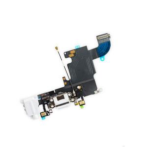 Купить Шлейф с разъемом зарядки Lightning + разъем аудио (White) для iPhone 6s