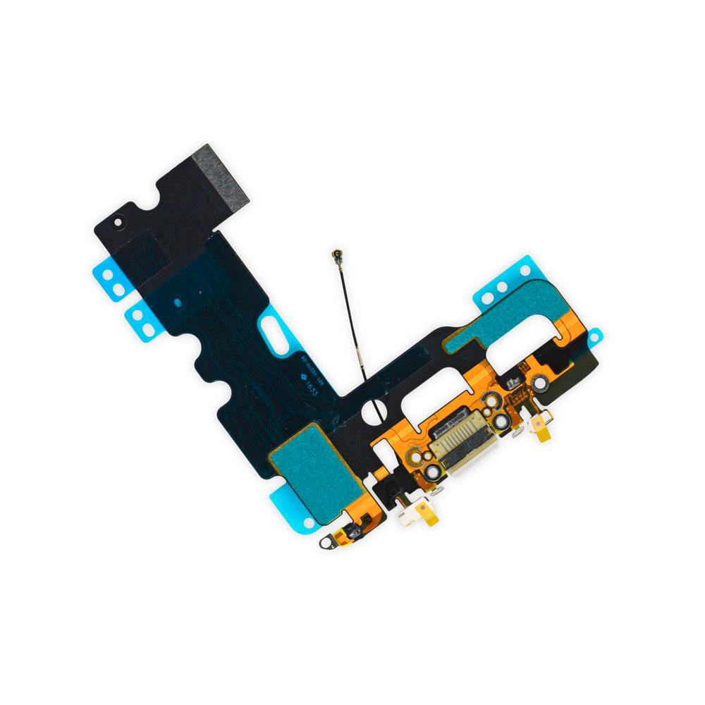 Купить Шлейф с разъемом зарядки Lightning + разъем аудио (White) для iPhone 7