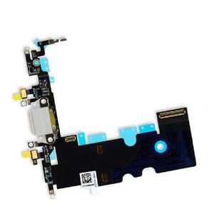 Купить Шлейф с разъемом зарядки Lightning + разъем аудио (White) для iPhone 8