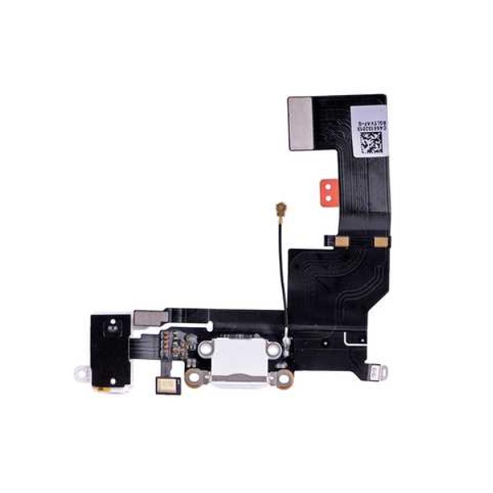 Купить Шлейф с разъемом зарядки Lightning + разъем аудио (White) для iPhone SE