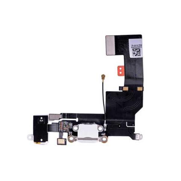 Шлейф с разъемом зарядки Lightning + разъем аудио (White) для iPhone SE
