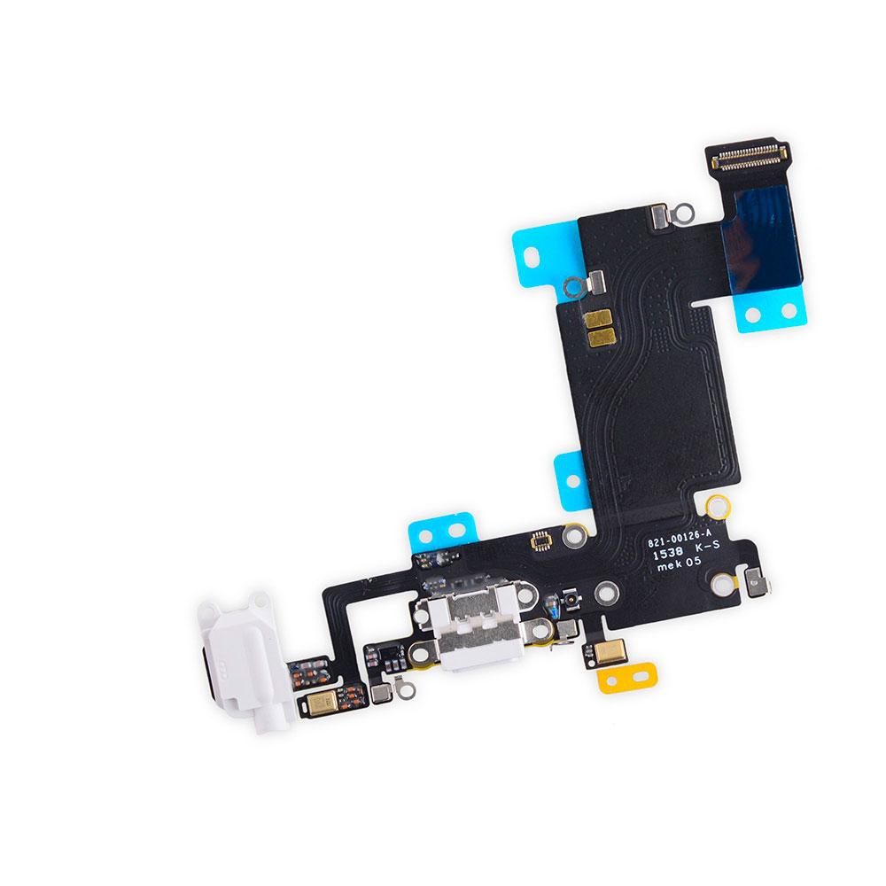 Купить Шлейф с разъемом зарядки Lightning + разъем аудио (White) для iPhone 6s Plus