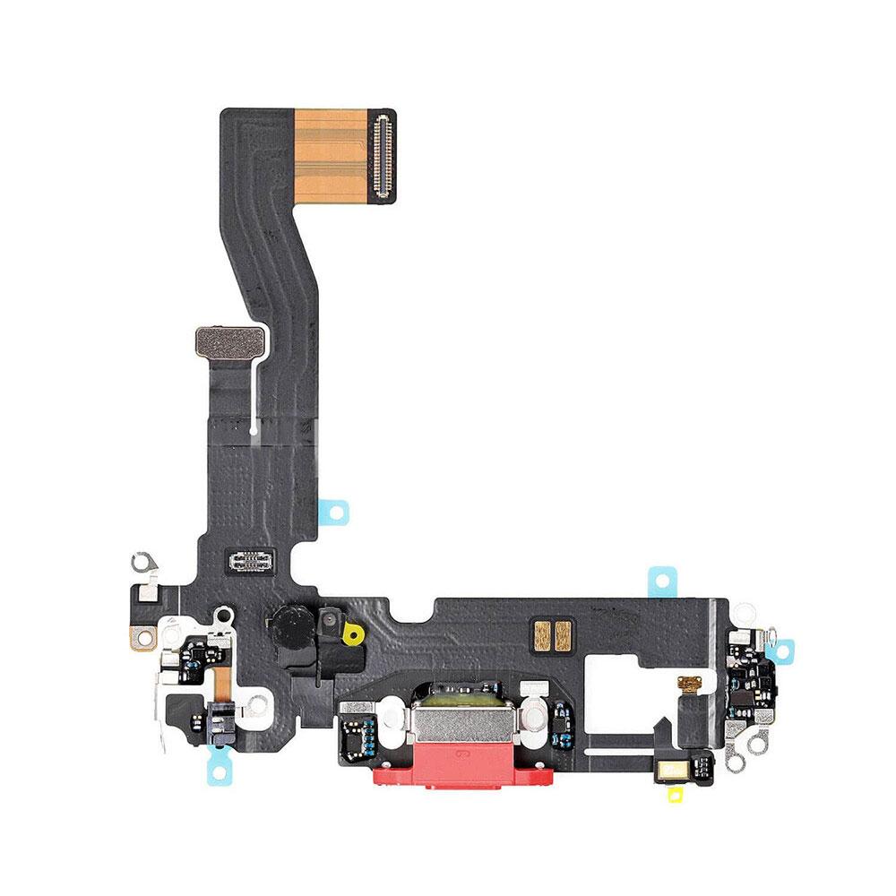 Купить Шлейф с разъемом зарядки Lightning (Red) для iPhone 12