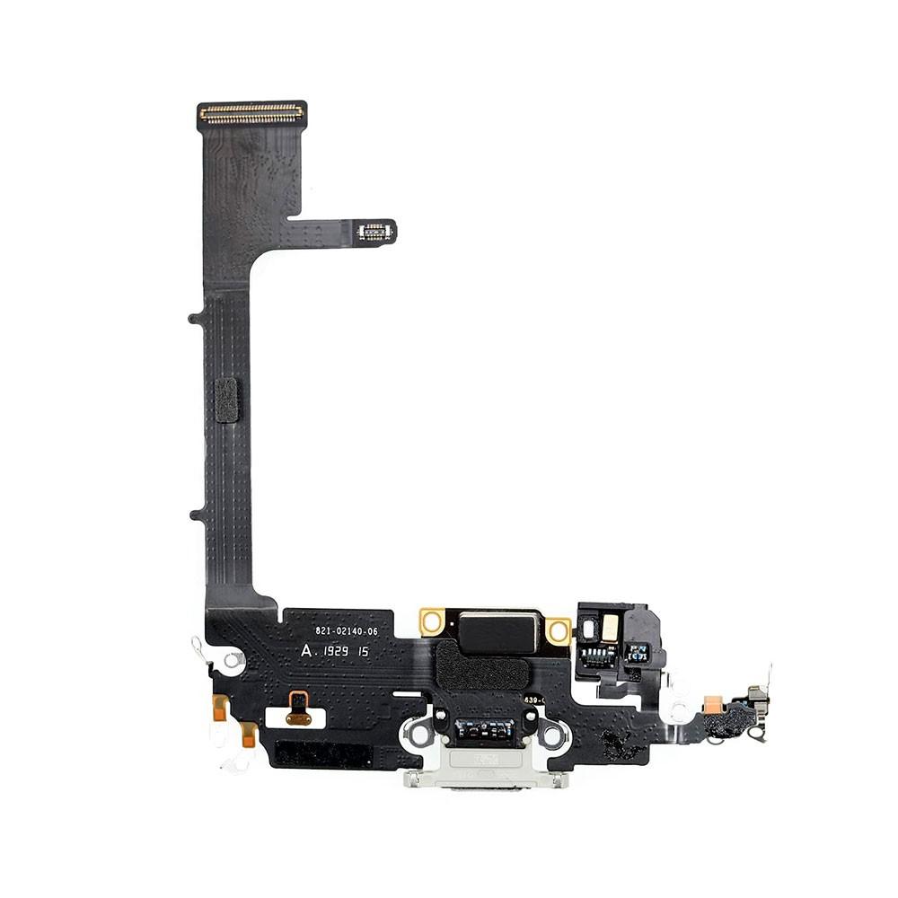 Купить Шлейф с разъемом зарядки Lightning (Silver) для iPhone 11 Pro Max