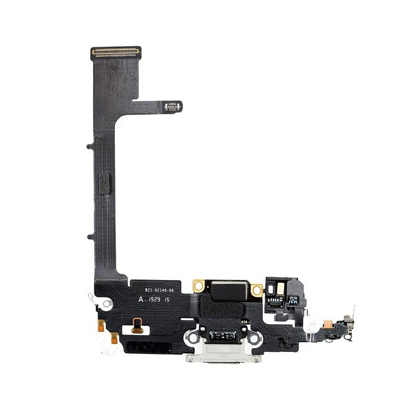 Шлейф с разъемом зарядки Lightning (Silver) для iPhone 11 Pro Max
