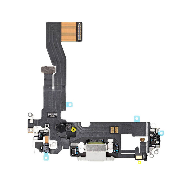 Шлейф с разъемом зарядки Lightning (White) для iPhone 12 mini