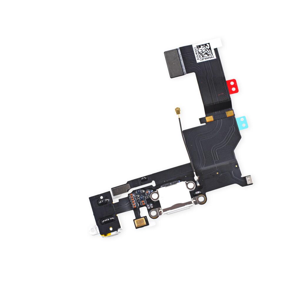 Купить Шлейф с разъемом зарядки Lightning + разъем аудио (Gold) для iPhone 5S