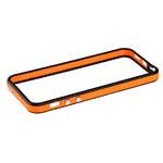 Двухцветный черно-оранжевый бампер для iPhone 5/5S/SE