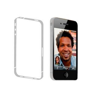 Купить Белая боковая защитная пленка oneLounge для iPhone 4/4S