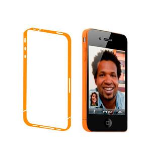 Купить Оранжевая боковая защитная пленка oneLounge для iPhone 4/4S
