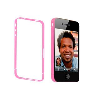 Купить Розовая боковая защитная пленка oneLounge для iPhone 4/4S