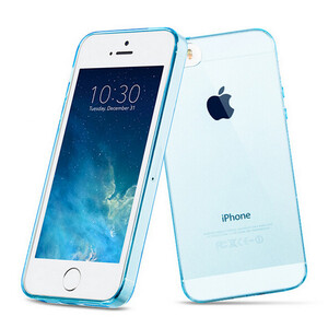 Купить Чехол Silicol 0.6mm Light Blue для iPhone 5/5S/SE