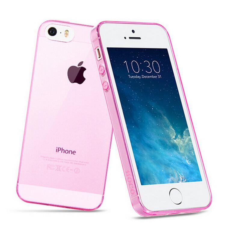 Чехол Silicol 0.6mm Pink для iPhone 5/5S/SE
