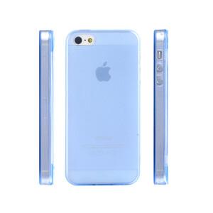 Купить Чехол Silicol 0.6mm Blue для iPhone 5/5S/SE