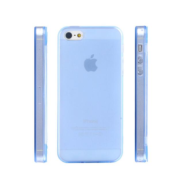 Чехол Silicol 0.6mm Blue для iPhone 5/5S/SE