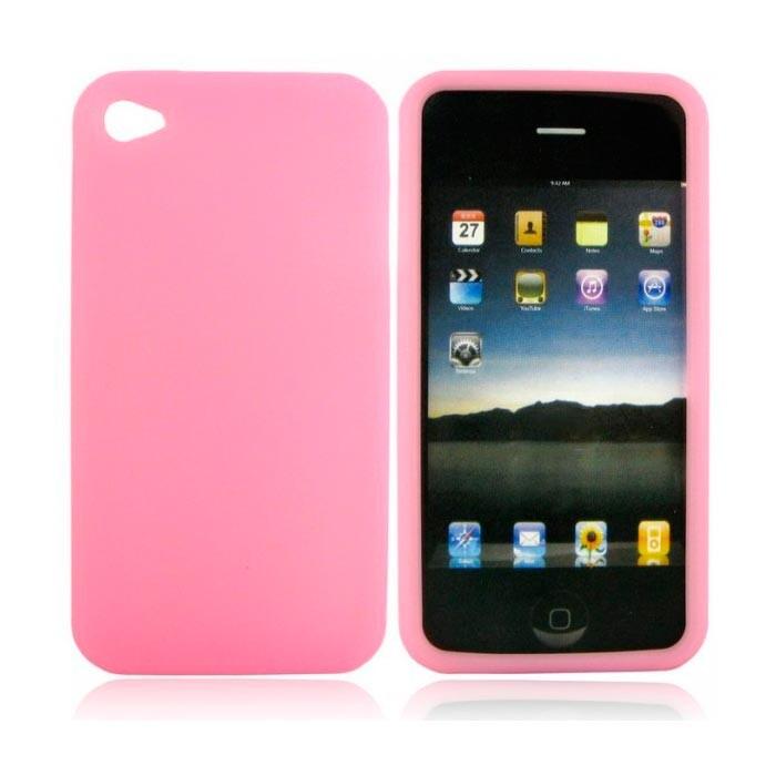 Прозрачный TPU чехол Silicol Pink 0.29mm для iPhone 4/4S