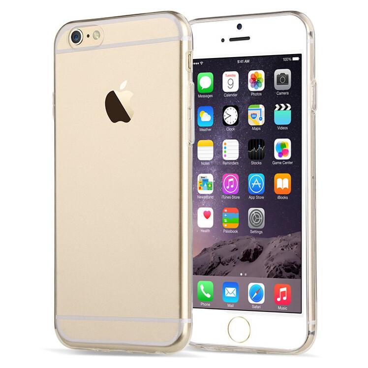 Прозрачный TPU чехол Silicol 0.6mm для iPhone 6 Plus/6s Plus