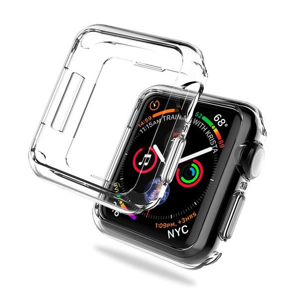 Тонкий прозрачный TPU чехол oneLounge SilicolDots для Apple Watch SE | 6 | 5 | 4 44mm