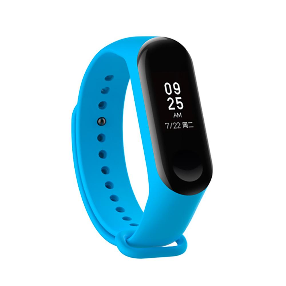 Купить Силиконовый ремешок iLoungeMax для фитнес-браслета Xiaomi Mi Band 3 | 4 Sky Blue