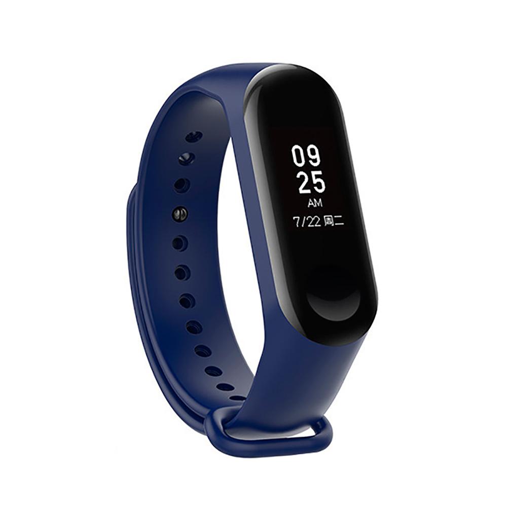 Купить Силиконовый ремешок iLoungeMax для фитнес-браслета Xiaomi Mi Band 3 | 4 Dark Blue