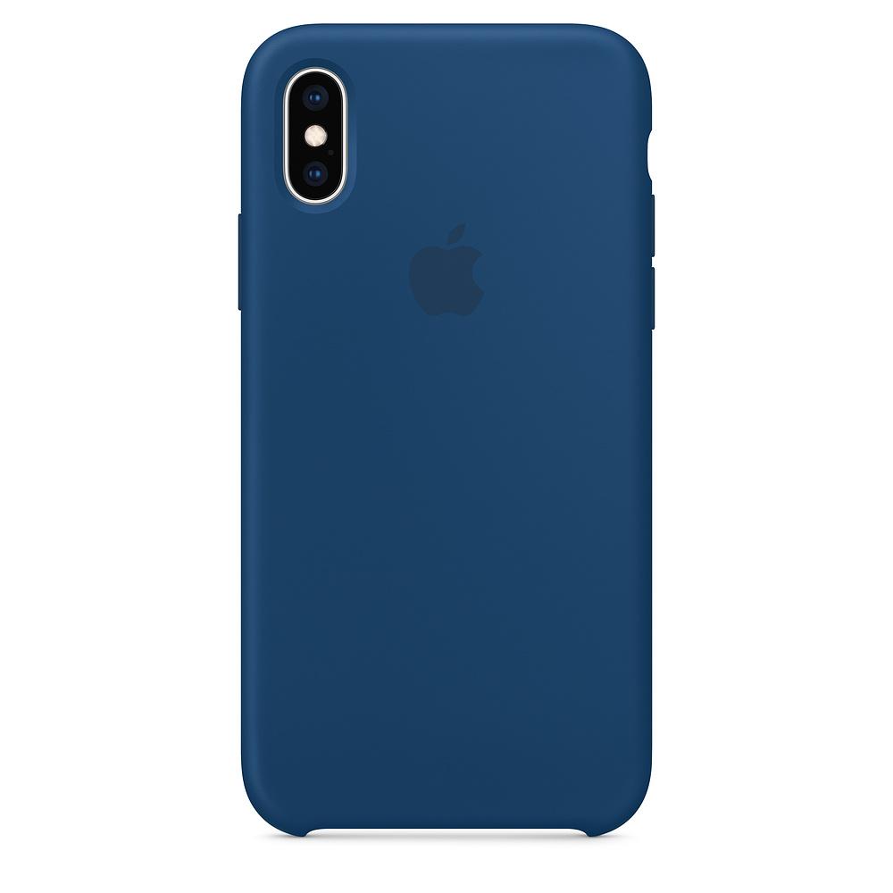 Купить Силиконовый чехол oneLounge Silicone Case Blue Horizon для iPhone X   XS OEM (MTF92)