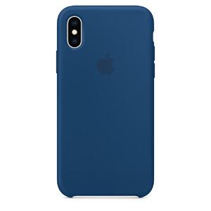 Купить Силиконовый чехол Silicone Case OEM Blue Horizon для iPhone X/XS