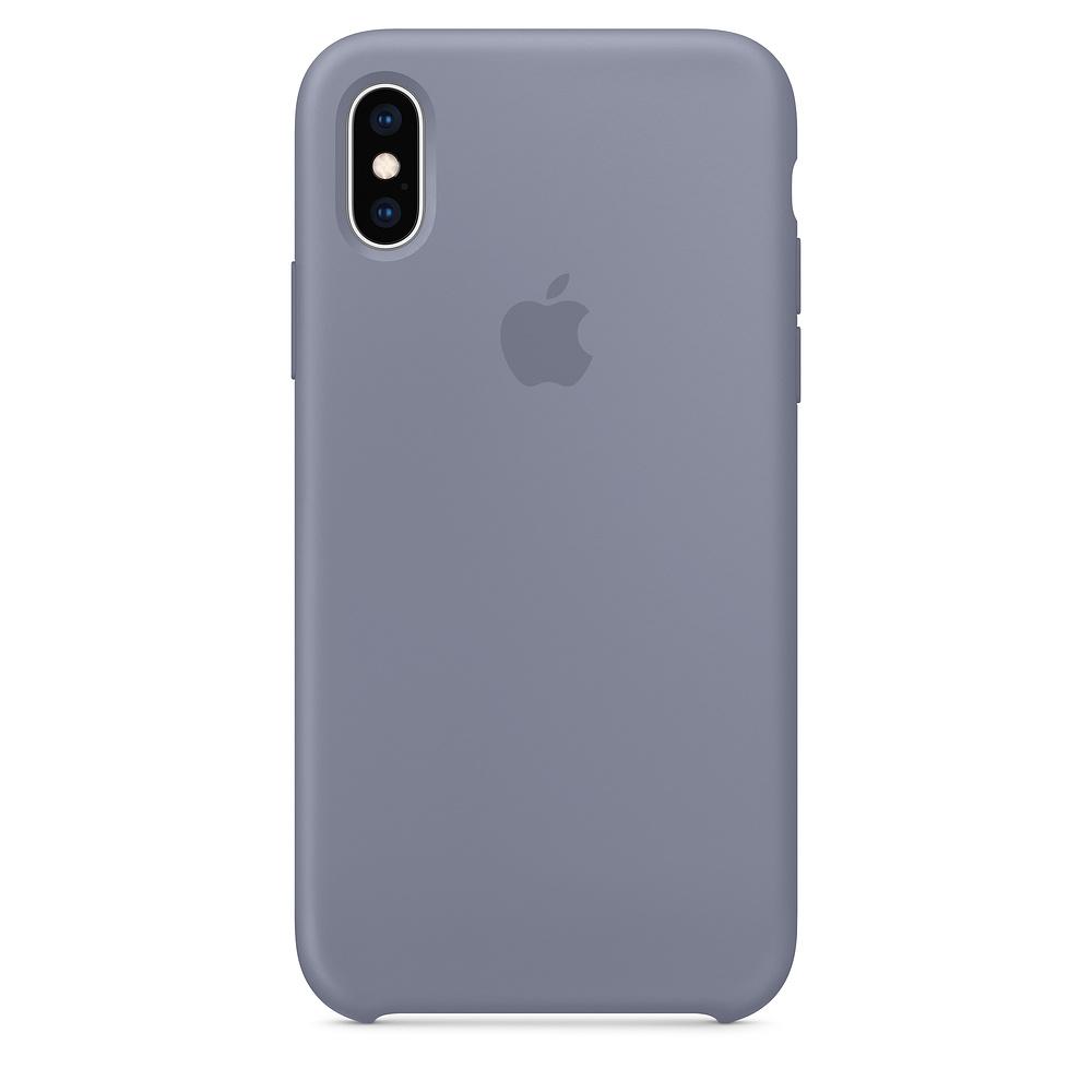 Купить Силиконовый чехол oneLounge Silicone Case Lavender Gray для iPhone X   XS OEM