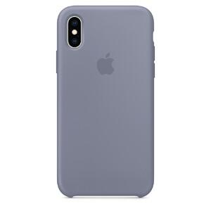 Купить Силиконовый чехол oneLounge Silicone Case Lavender Gray для iPhone X/XS OEM