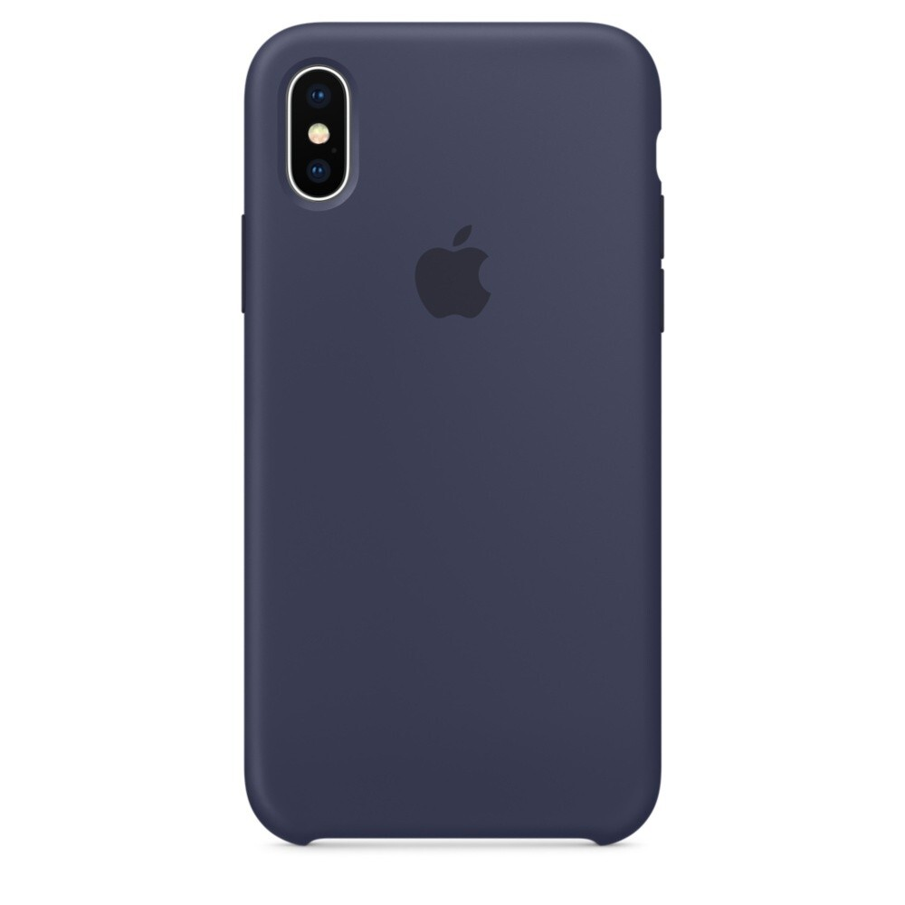 Силиконовый чехол Silicone Case OEM Midnight Blue для iPhone XS Max