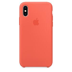 Купить Силиконовый чехол Silicone Case OEM Nectarine для iPhone X/XS