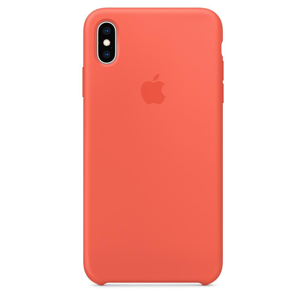 Купить Силиконовый чехол oneLounge Silicone Case Nectarine для iPhone XS Max OEM (MTFF2)