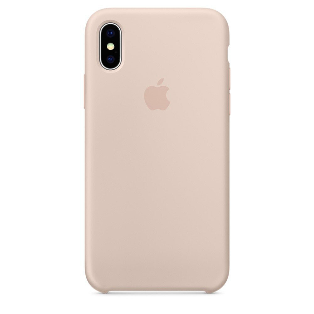 Силиконовый чехол iLoungeMax Silicone Case Pink Sand для iPhone X | XS OEM