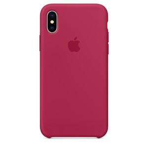 Купить Силиконовый чехол Silicone Case OEM Rose Red для iPhone X/XS