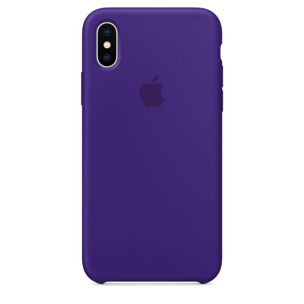 Силиконовый чехол Silicone Case OEM Ultra Violet для iPhone XS Max