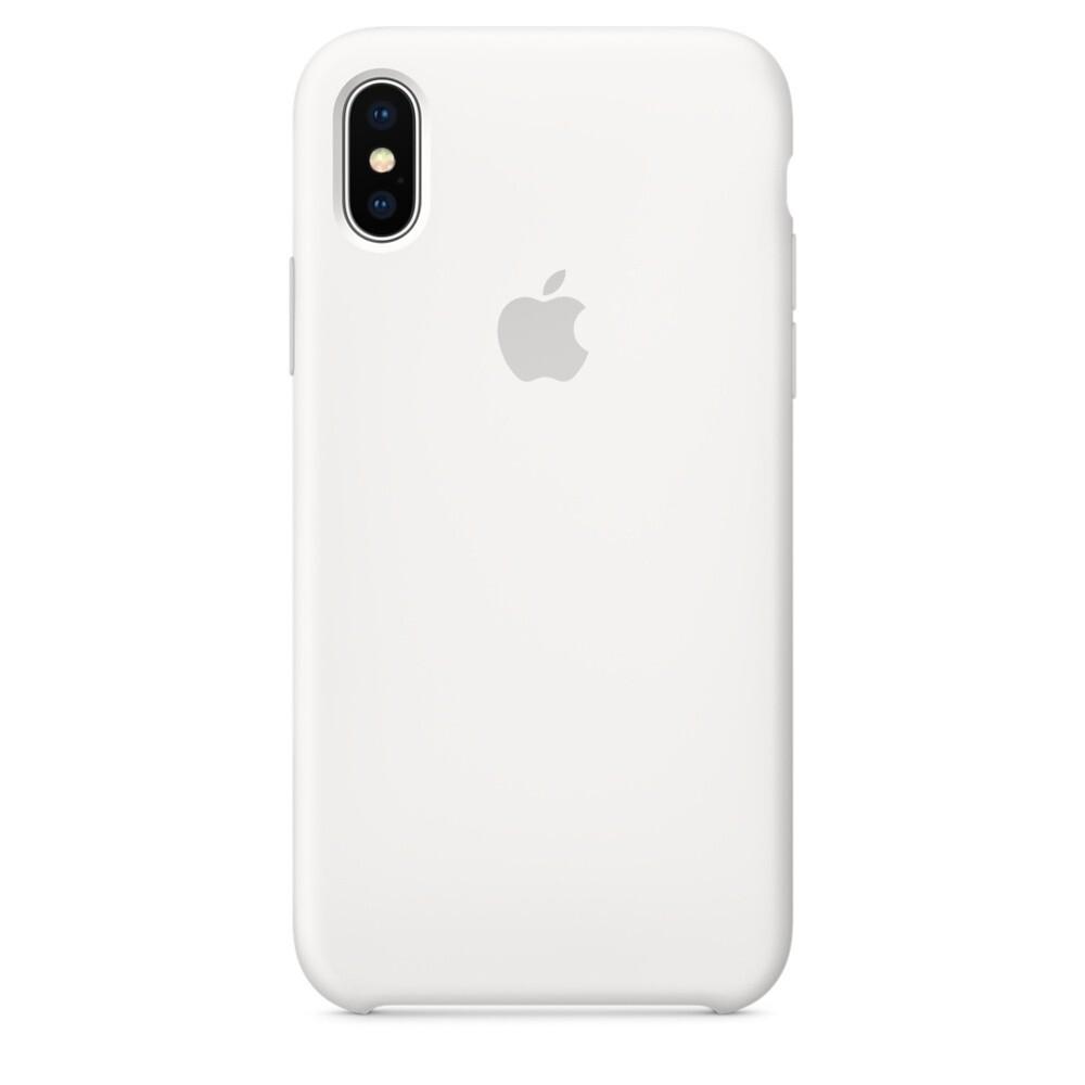 Силиконовый чехол oneLounge Silicone Case White для iPhone XS Max OEM (MRWF2)