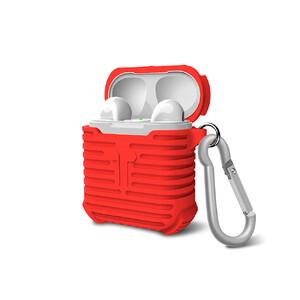 Купить Красный силиконовый чехол с карабином для Apple AirPods