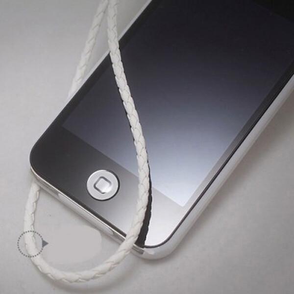 Силиконовая белая накладка на кнопку iLoungeMax HOME для iPhone | iPad | iPod Touch